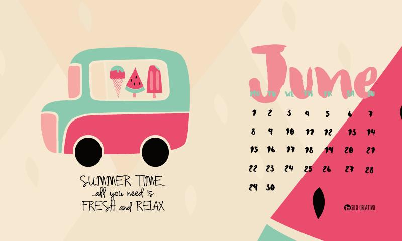 Downloadable Calendar: June 2015 • Silo Creativo