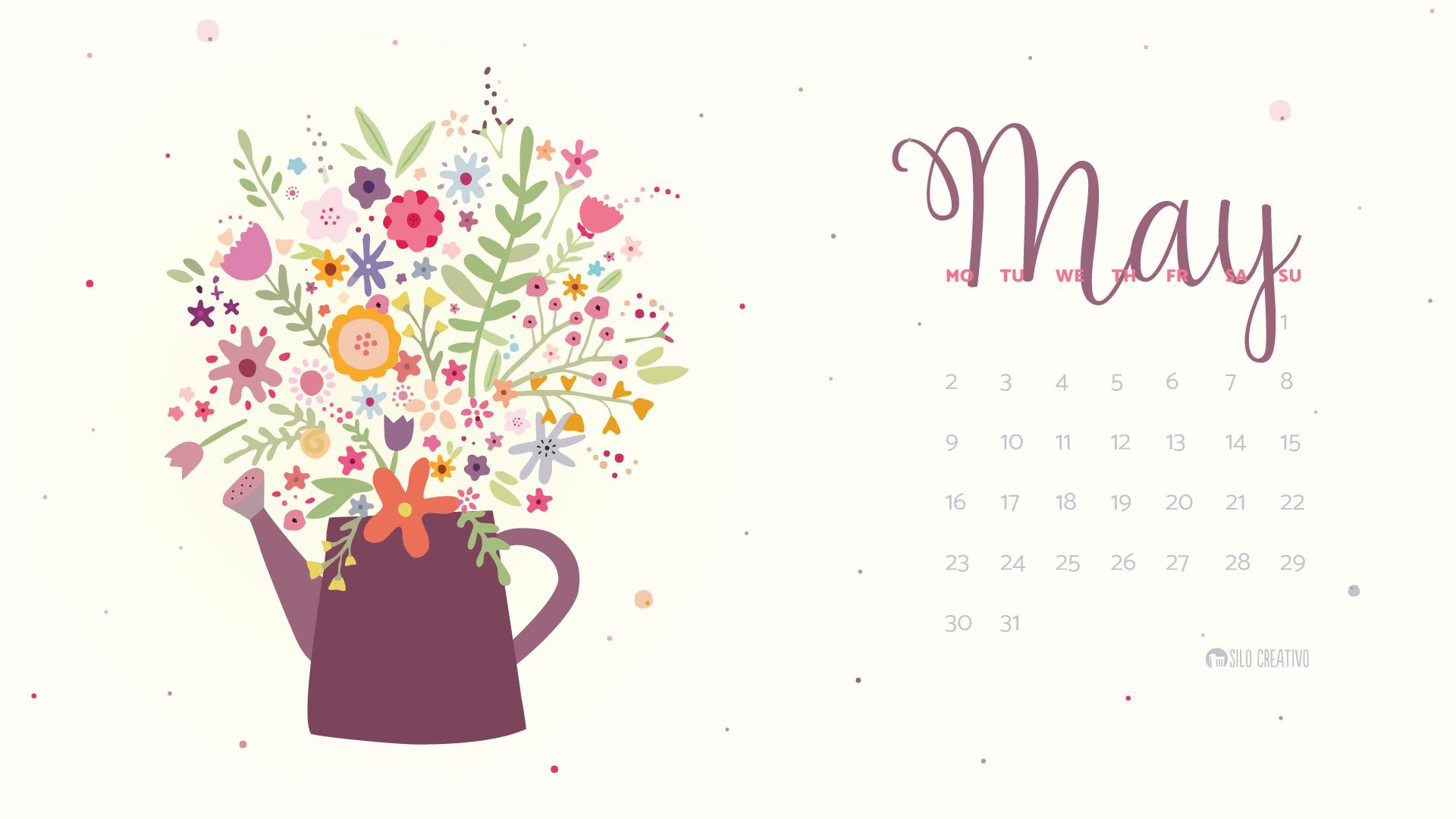 May Calendar Designs : Downloadable calendar may silo creativo