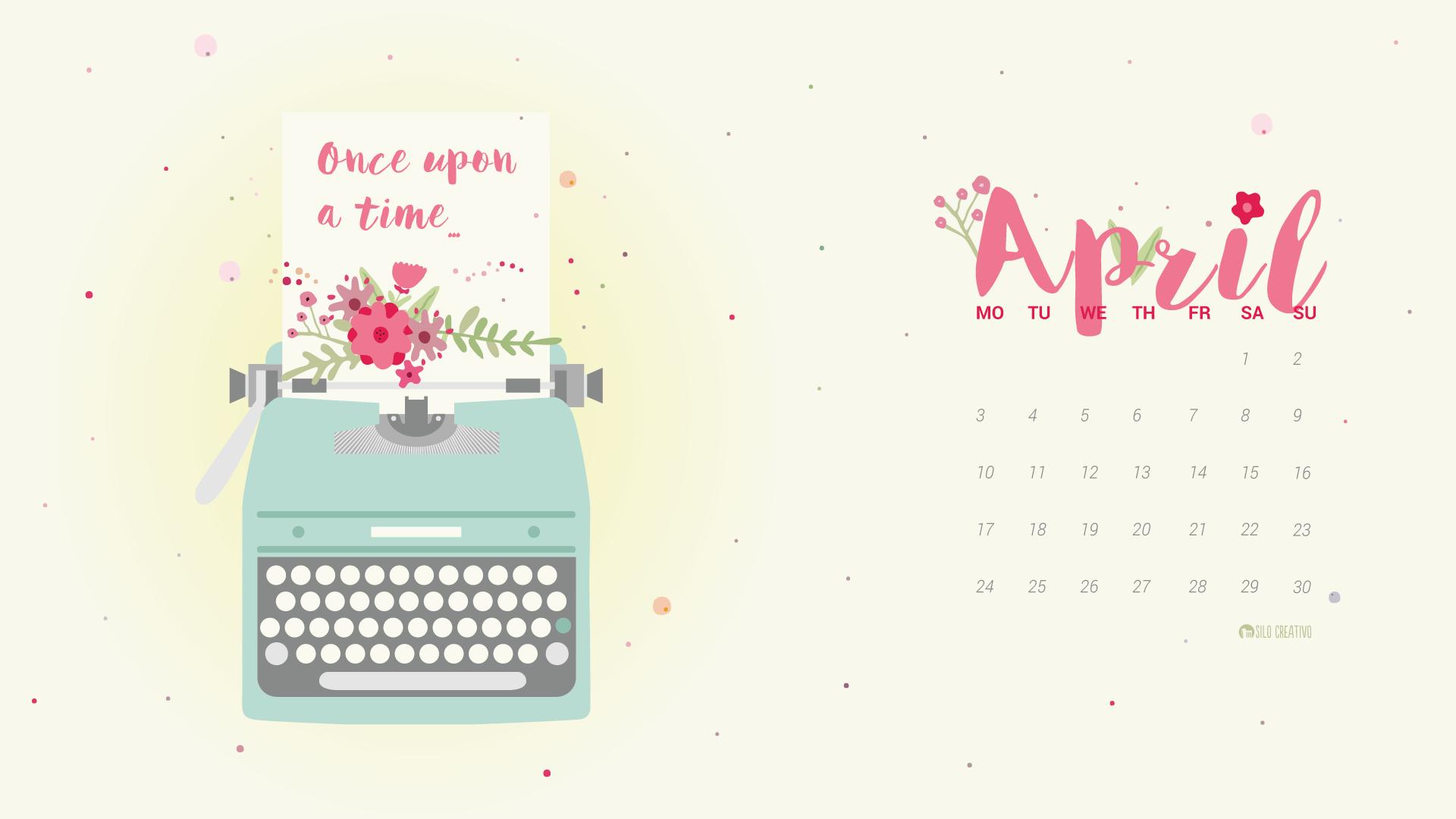 Downloadable Calendar April 2019 Silo Creativo
