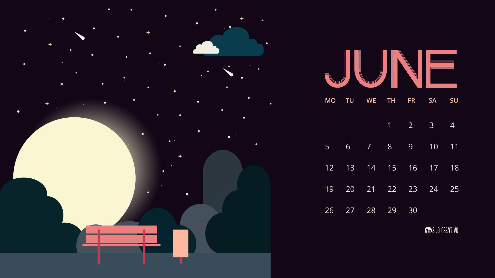 June Calendar Girl Series : Downloadable calendar june silo creativo
