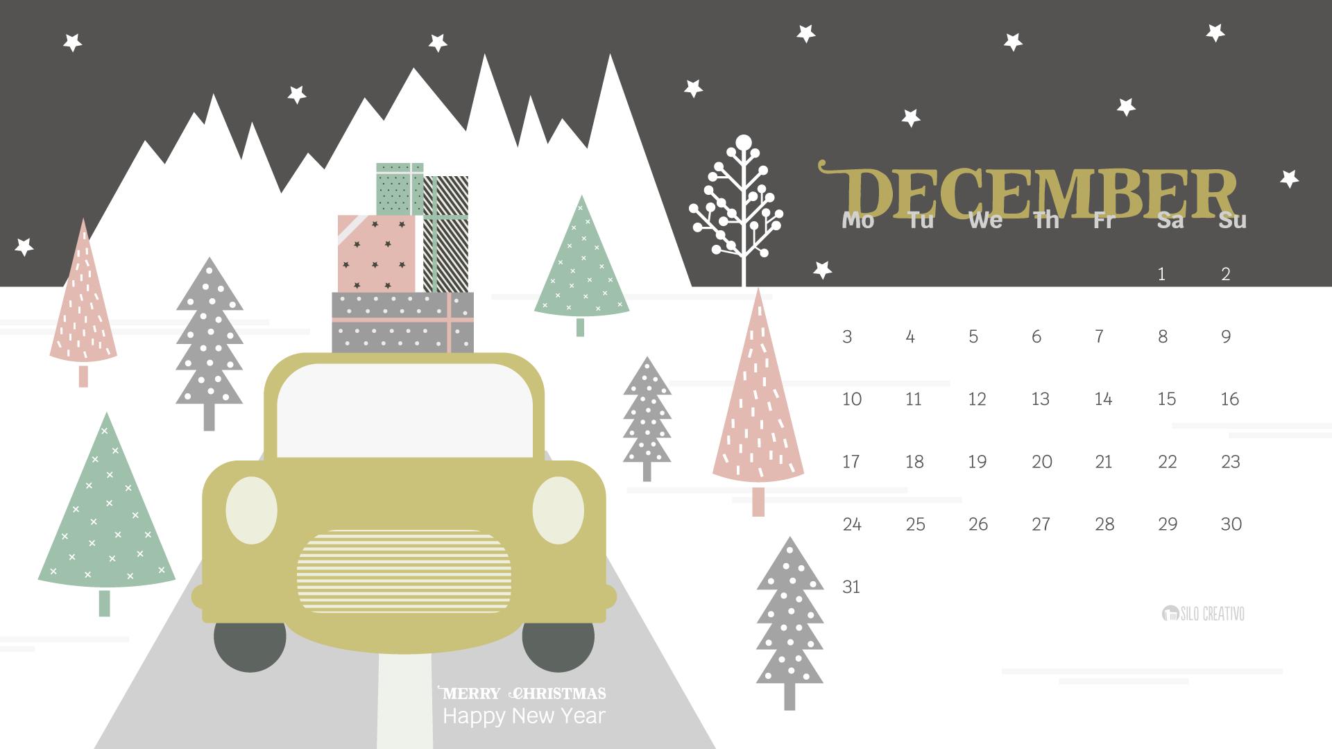 December Laptop Calendar 2019 Wallpaper Downloadable Calendar: December 2018 • Silo Creativo