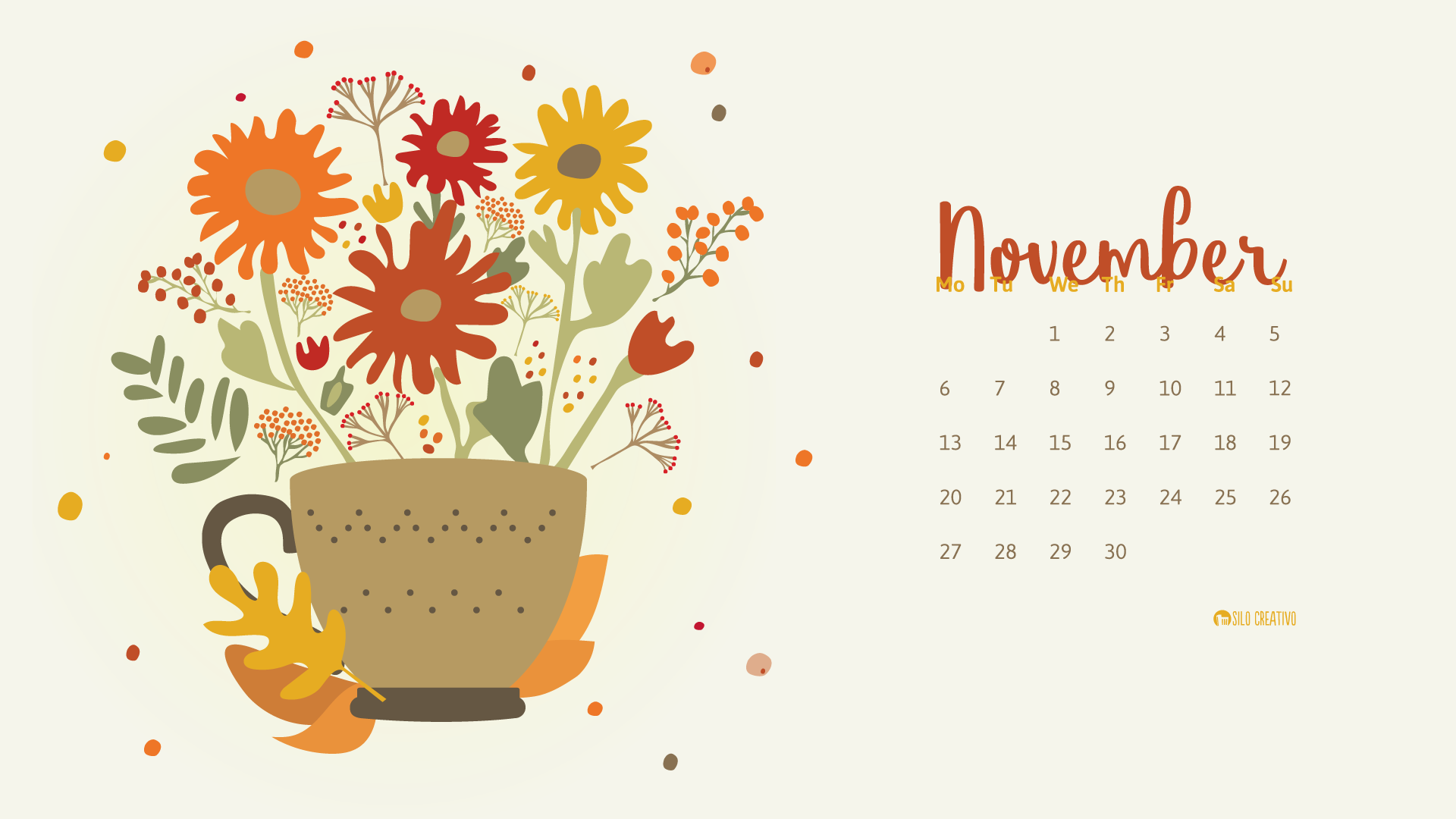 November Calendar Design : Downloadable calendar november silo creativo