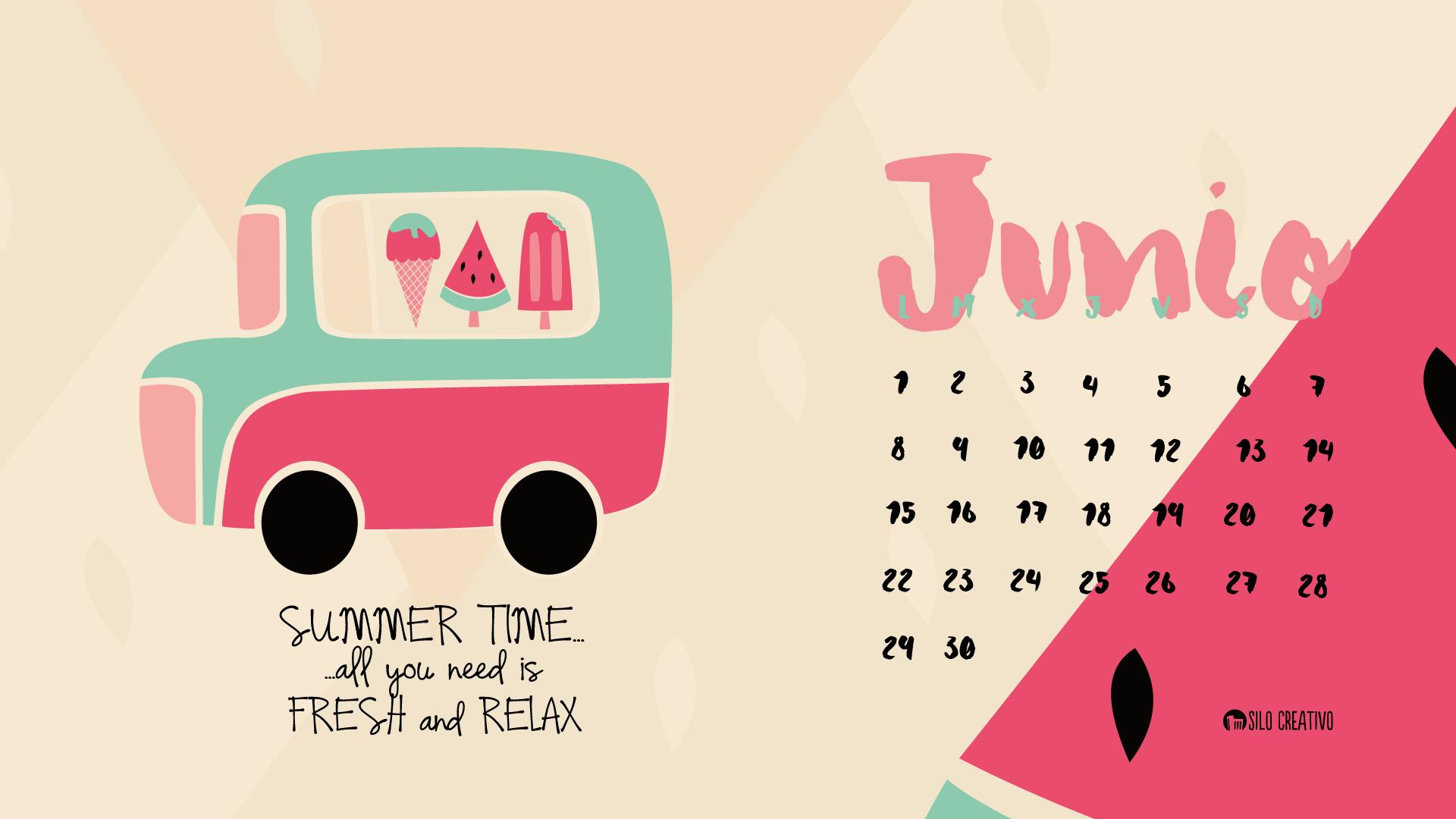 calendario descargable junio 2018 silo creativo