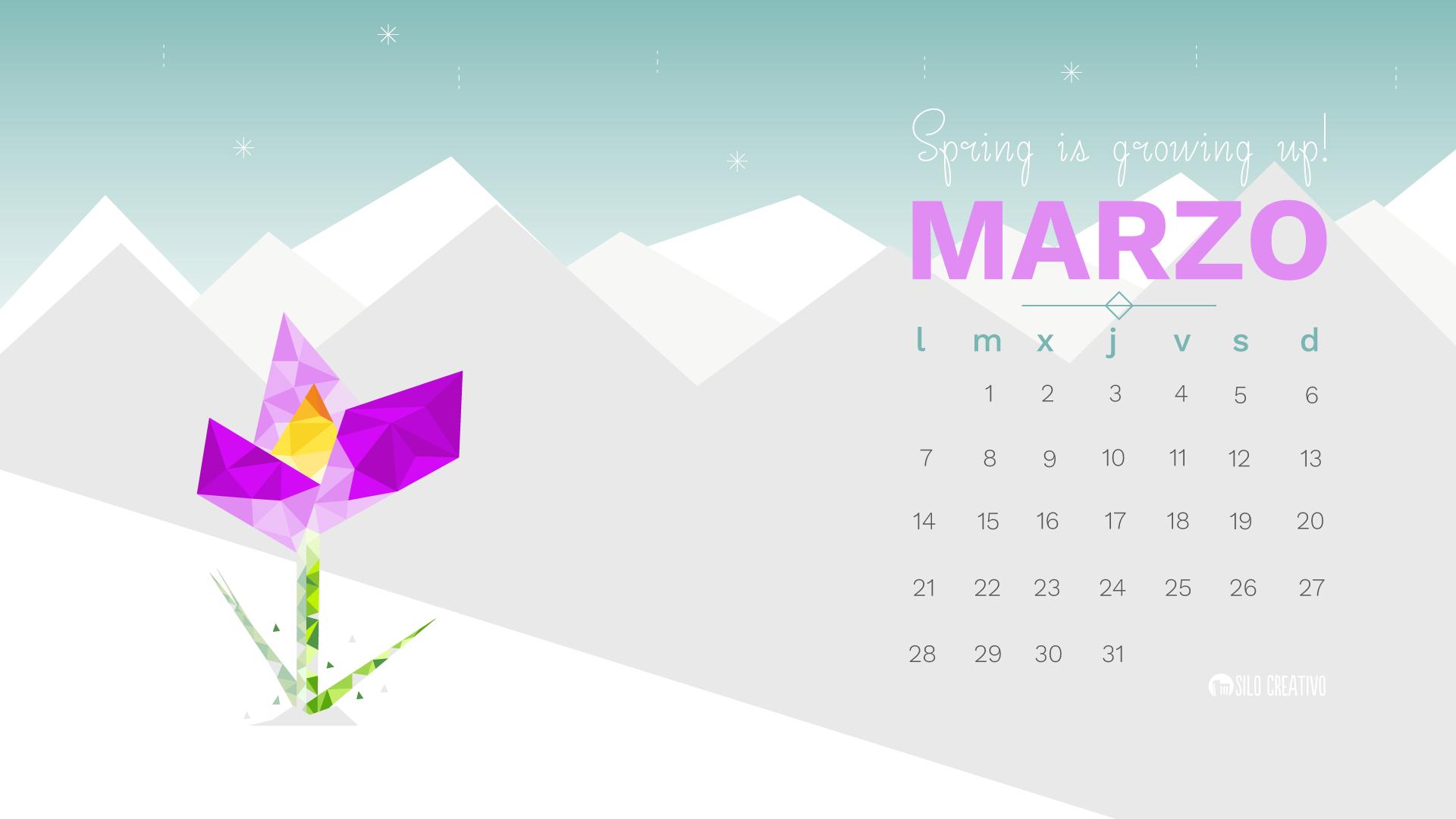 foto de Calendario descargable: Marzo 2016 • Silo Creativo
