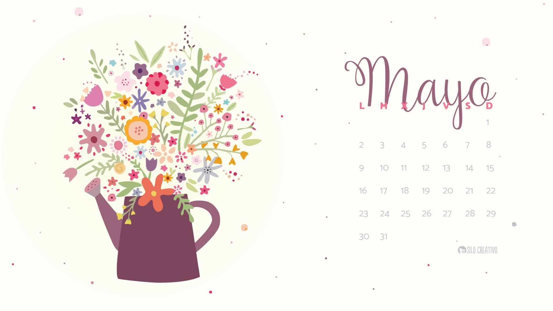 Calendario descargable mayo 2016 silo creativo for Fondo de pantalla calendario 2018