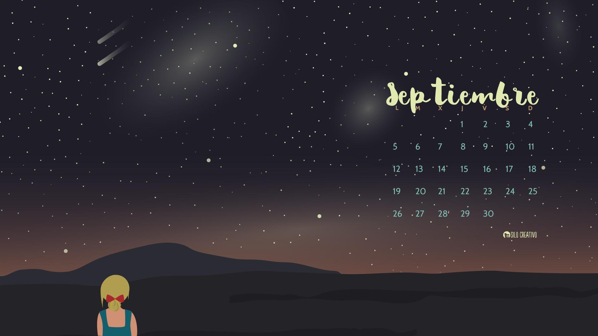 Calendario descargable septiembre 2016 silo creativo for Fondo de pantalla calendario 2018