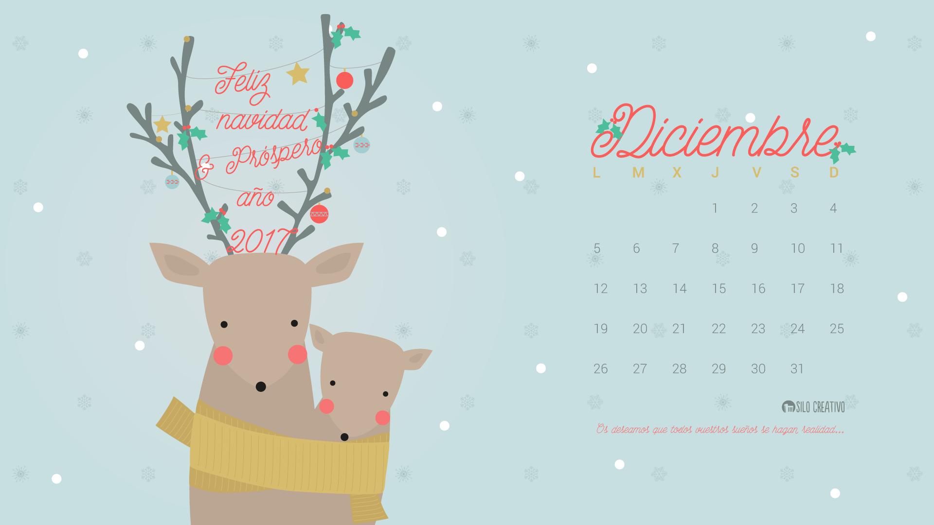 Calendario Descargable: Diciembre 2016 • Silo Creativo
