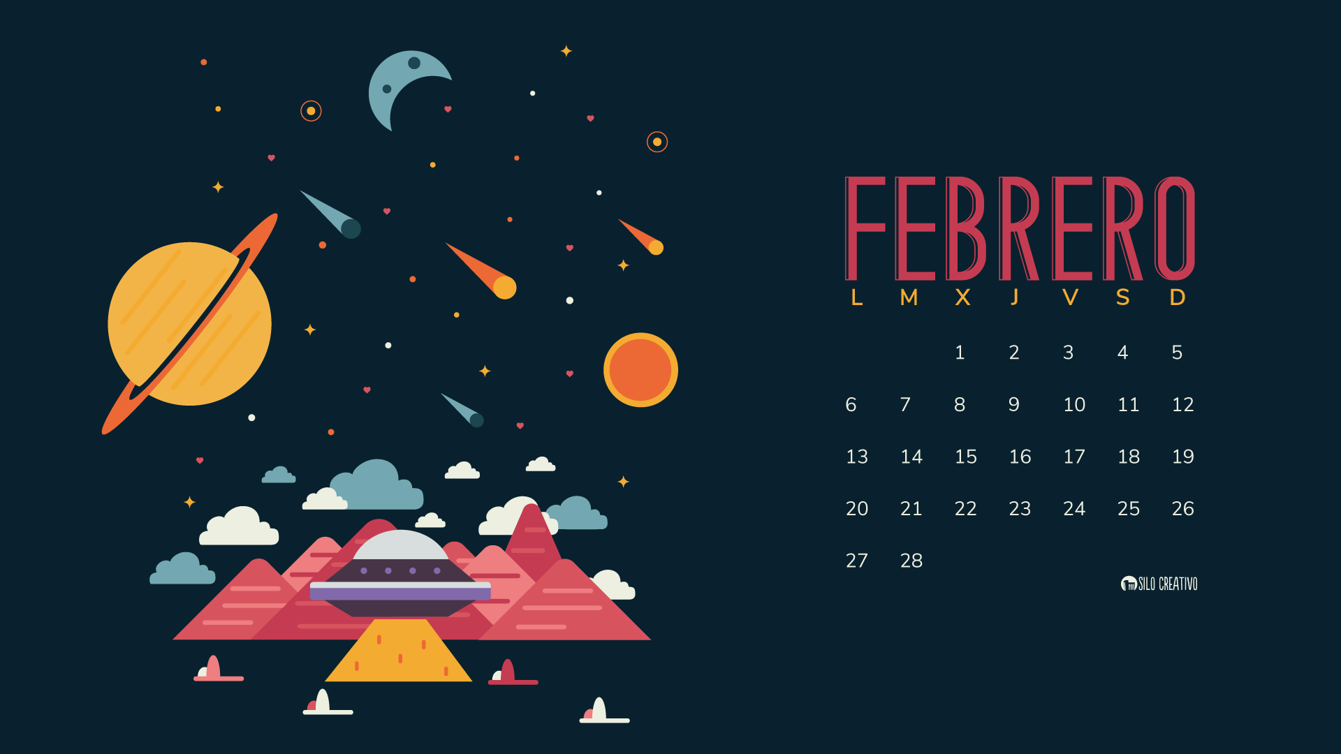 Calendario descargable: Febrero 2017 • Silo Creativo