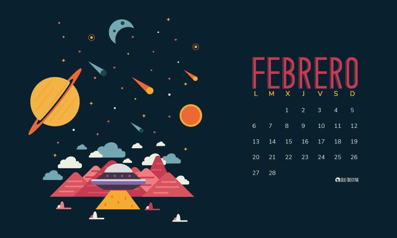 Calendario descargable febrero 2017 silo creativo for Fondo de pantalla calendario 2018