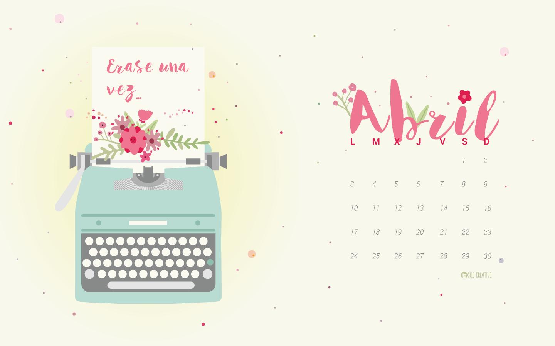 Calendario descargable abril 2017 silo creativo for Fondo de pantalla calendario 2018