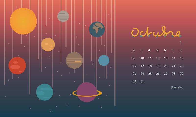 Calendario descargable octubre 2017 silo creativo for Fondo de pantalla calendario 2018