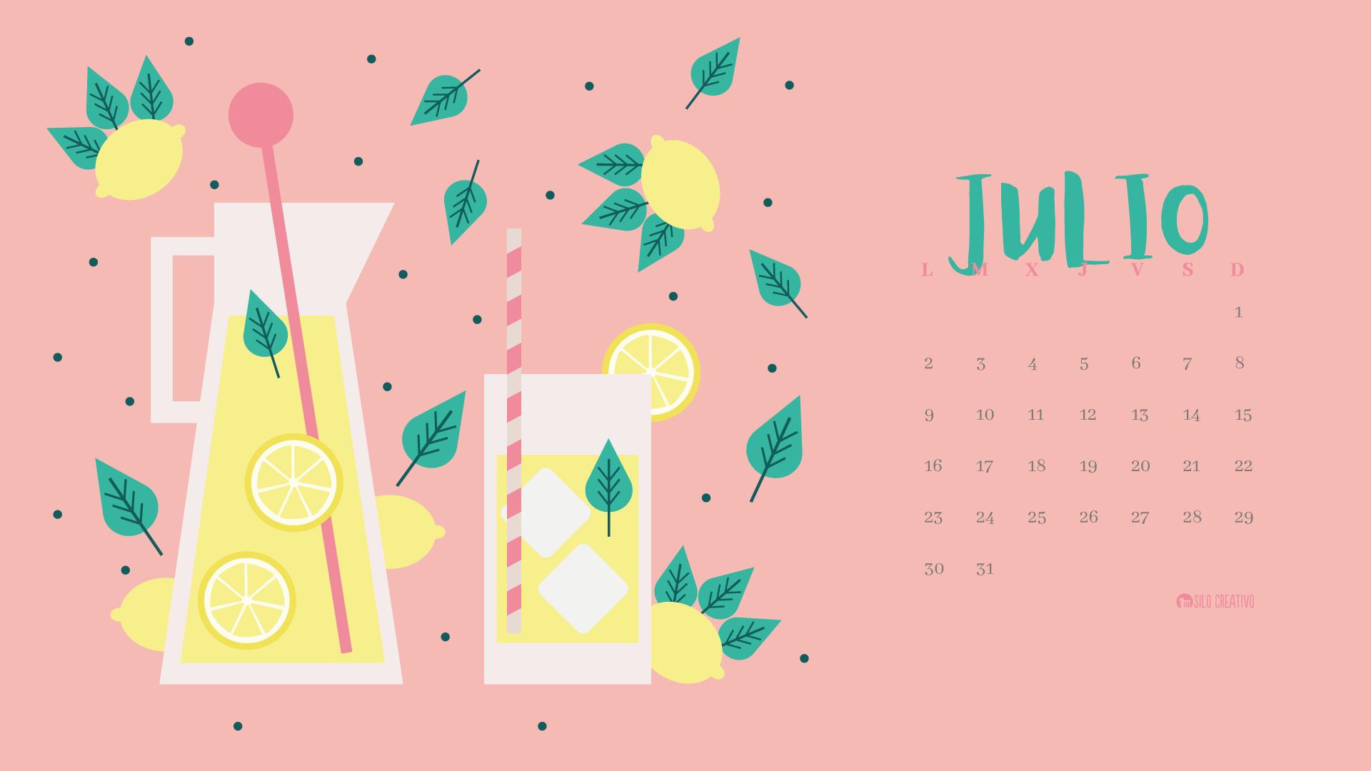 Julio Calendario.Calendario Descargable Julio 2019 Silo Creativo