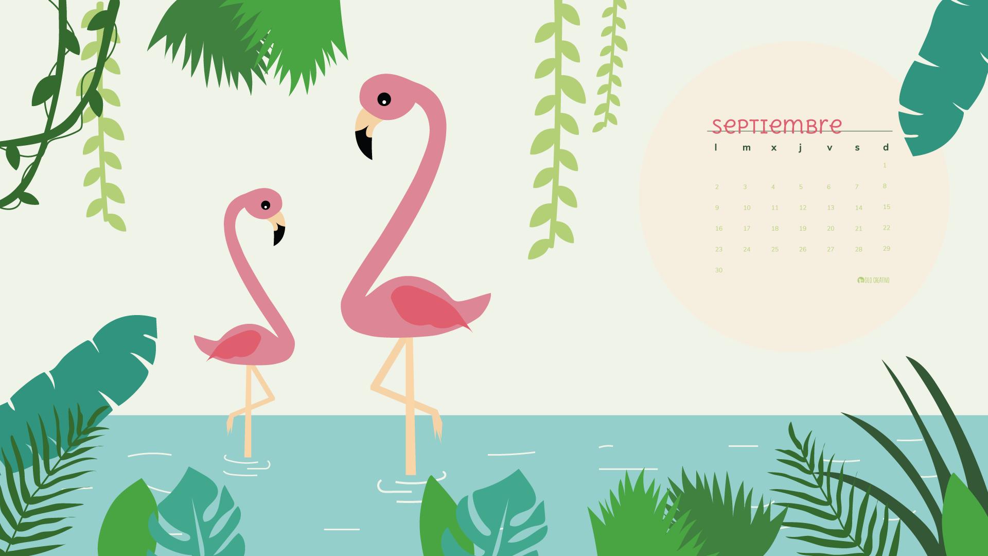 Calendario Rosa Png.Calendario Descargable Septiembre 2019 Silo Creativo